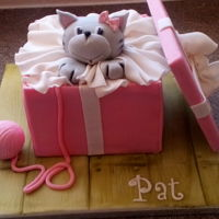 Kitten In A Box 70th birthday surprise cake for a friend.