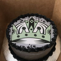 Los Angeles Kings Cake LA Kings Birthday Cake