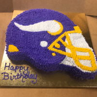 Minnesota Viking Helmet Cake Minnesota Viking Birthday Cake