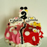 Minnie Mouse Cake Minnie Mouse- inspired cake for twin girls