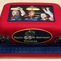 Munster Rugby 65Th Birthday Cake I made this cake for friend Trisha pictured centre with her favourite idol. Trisha is an avid Munster Rugby Fan!!! Original image was photo...