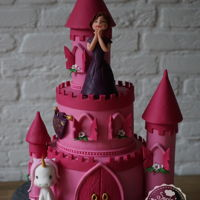 Never Enough Pink... .... on a castle cake for a four year old girl!