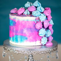Ombre Surprise: This Cake Features A Different Color With Every Slice! Not one, but three ombre surprises in ONE cake! Surprise your guests with this fun cake, and give everyone a different color slice! For a...