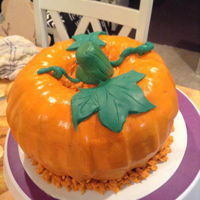Pumpkin Cake Cake I made for a friend.