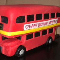 Route Master Bus This was for my sister's 50th birthday i was really nervous making this as it was first cake I carved and decorated other than a heart...