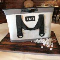 Yeti Ice Chest Bag In the south we do tonsss of Yeti Ice chest cakes from grooms cakes, I was so excited when a request for a Yeti Bag was made! Such an odd...