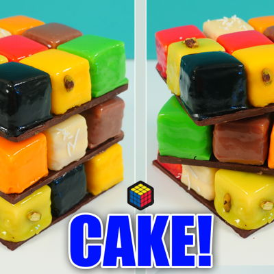 A New 'twist' On The Rubik's Cube Cake