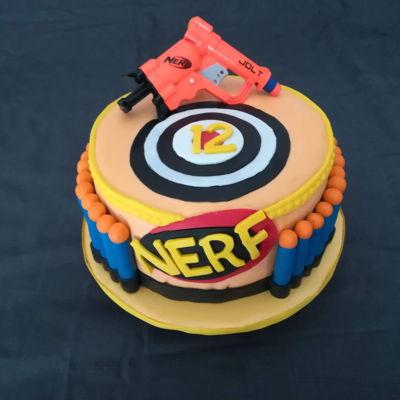 Fantastic Nerf Cake Photos Personalised Birthday Cards Beptaeletsinfo