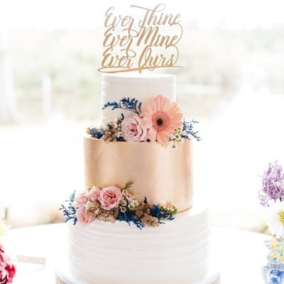 Southern Gold Wedding Cake