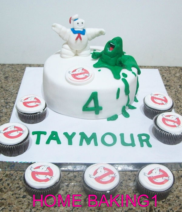 Ghostbuster Cake And Cupcakes