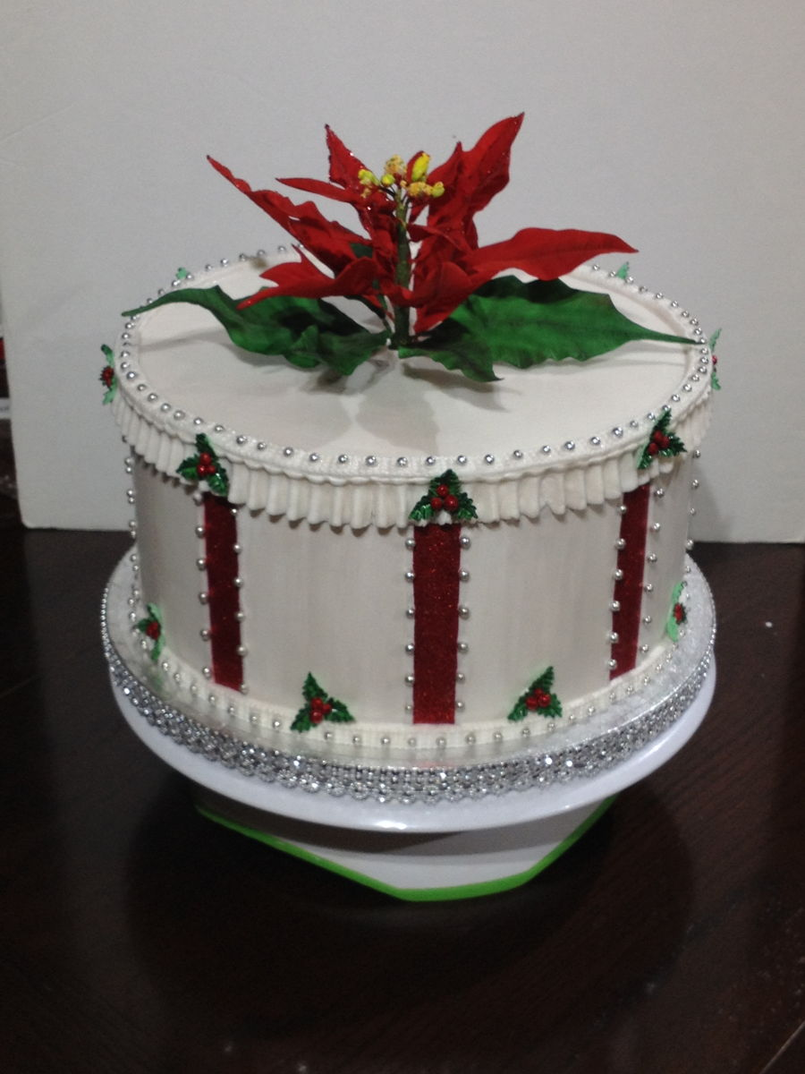 A Veterans Christmas Party Cake on Cake Central