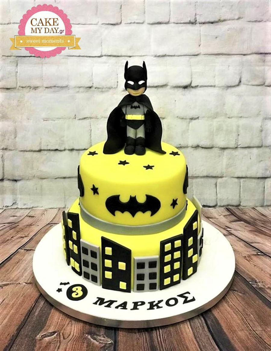 Remarkable Batman Birthday Cake Cakecentral Com Personalised Birthday Cards Veneteletsinfo