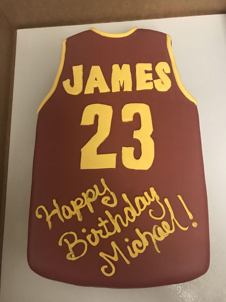Swell Lebron James Cake Cakecentral Com Funny Birthday Cards Online Necthendildamsfinfo