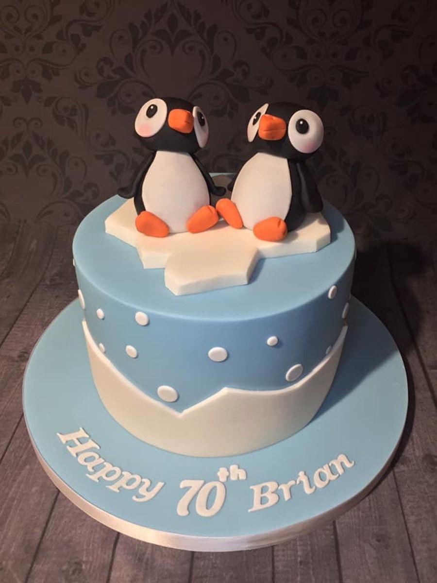 Marvelous Penguin Birthday Cake Cakecentral Com Funny Birthday Cards Online Aeocydamsfinfo