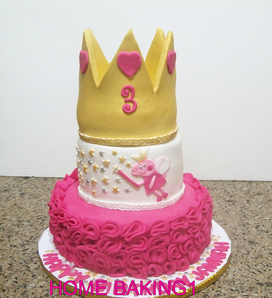 Peppa Pig Princess Cake on Cake Central