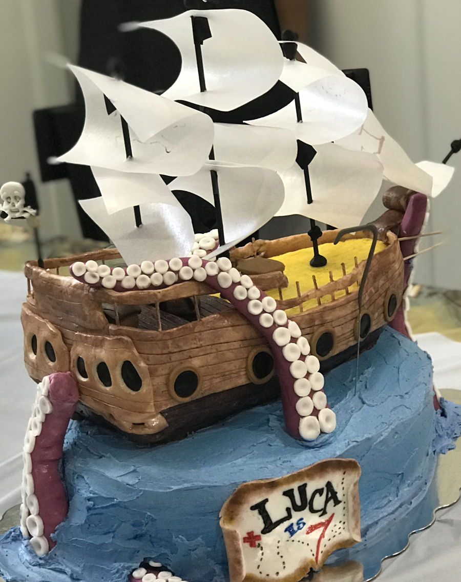 Pirate Ship Birthday Cake on Cake Central