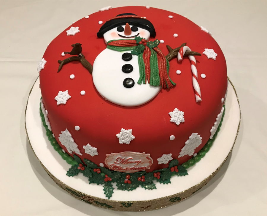Snowman Christmas Cake 2018 on Cake Central