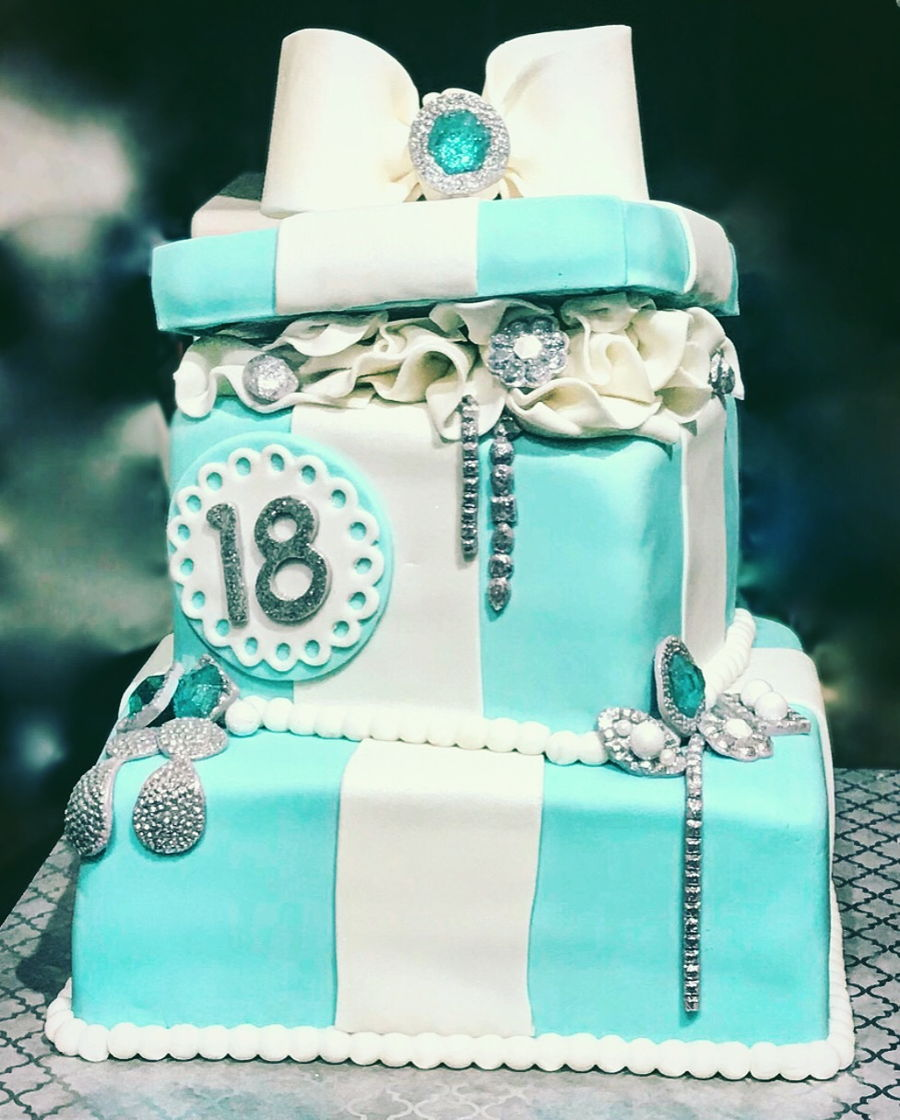 Tiffany Inspired Gift Box Cake on Cake Central