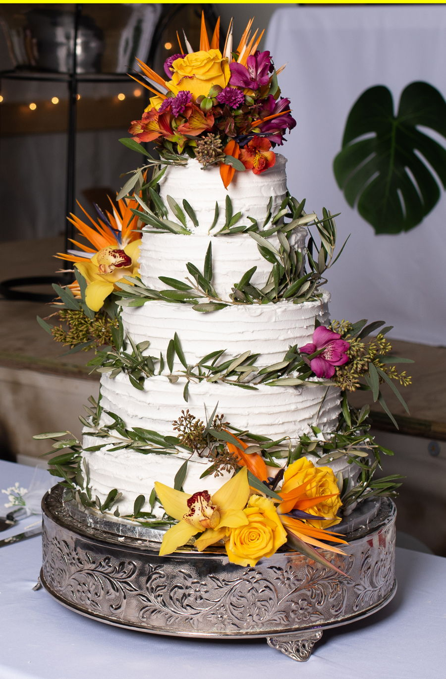 Tropical Wedding Cake on Cake Central