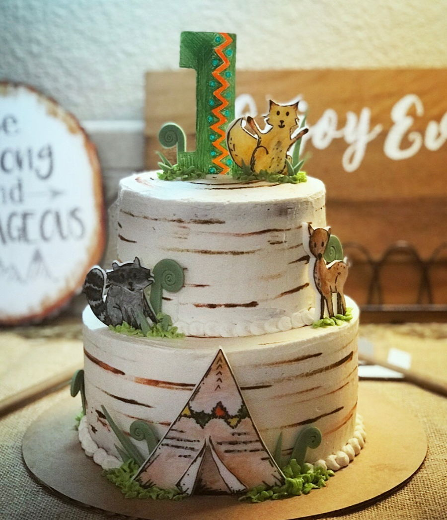 Woodland Storybook Cake on Cake Central