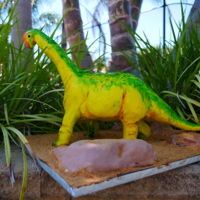 3D Dinosaur Cake Kids LOVE dinosaurs ... which makes this 3D dino cake perfect for your next birthday party! I've made a video tutorial &...