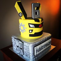 Bumblebee Chocolate WASC cake with American buttercream.