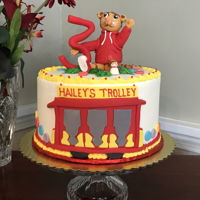 Daniel Tiger Cake Buttercream with fondant topper and decor
