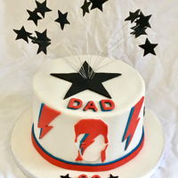 David Bowie Cake Cake for a David Bowie fan with handcut fondant cutouts