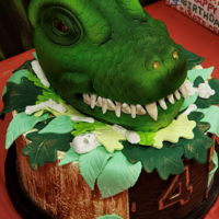 Dinosaur All cake. Used SMBC and fondant