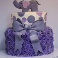 Elephant Baby Shower Cake Cute elephant cake