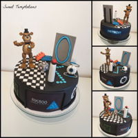 Gamer Birthday Birthday cake for my son's birthday. He is a big fan of FNAF, Portal 2, Lego and Detroid become human and wanted everything on his...