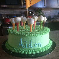 Golf Cake Pops Golf cake pops are ready to drive off Tootsie Roll tees.