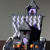 Haunted Gingerbread House I made this for the Halloween party my apartment building throws for the children in the lobby