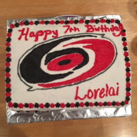 Hurricanes Cake Carolina Hurricanes cake for 7th birthday.