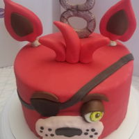 Inspired By Five Nights At Freddy's This cake was inspired by Five Nights at Freddy's Foxy Face. I'm new at decorating, but hope to start a home cake business some...