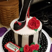 My First Shoe Cake This is my first shoe cake. I've learned to stay flexible. I'd originally planned to add fondant lace to the cake, but it didn&#...