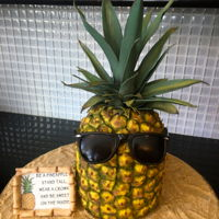 Pineapple Cake Everything is edible except the sign:)