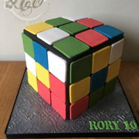 Rubik Cube Double chocolate fudge cake