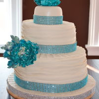 Teal Wedding Cake This was my second wedding cake
