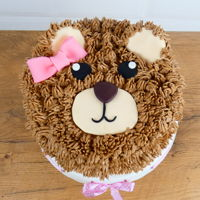 Teddy Bear Cake Check out my YouTube channel. There's a tutorial how to make teddy cake: