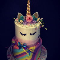 Unicorn Cake fondant and buttercream unicorn cake