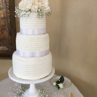 Wedding Cake Grandson's wedding cake I made plus all sweets for the sweet table