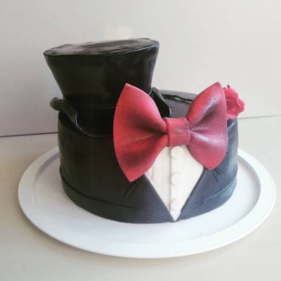 Suit Cake for a young gentleman :) hat and rose included