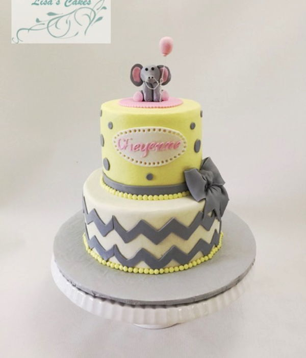 Baby Shower Grey & Yellow Cakes