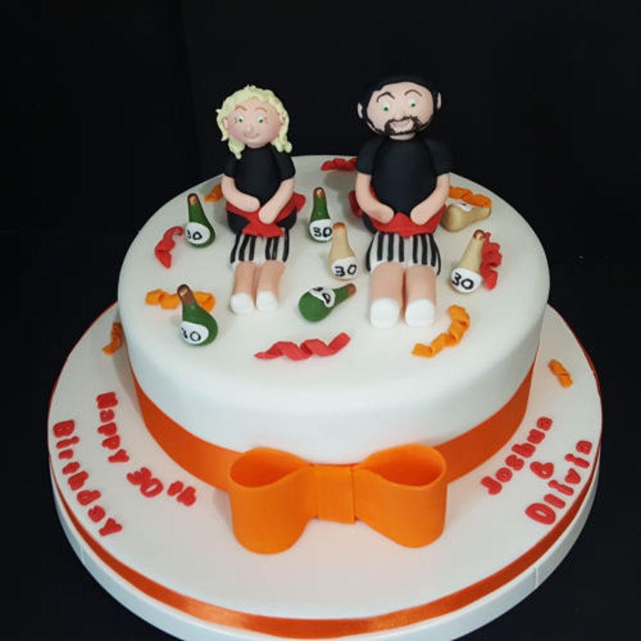 Fine A Twins 30Th Birthday Cake For A Huddersfield Customer Funny Birthday Cards Online Drosicarndamsfinfo