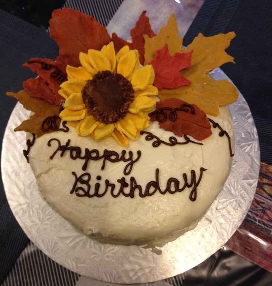 Strange Autumn Birthday Cake Cakecentral Com Funny Birthday Cards Online Aboleapandamsfinfo