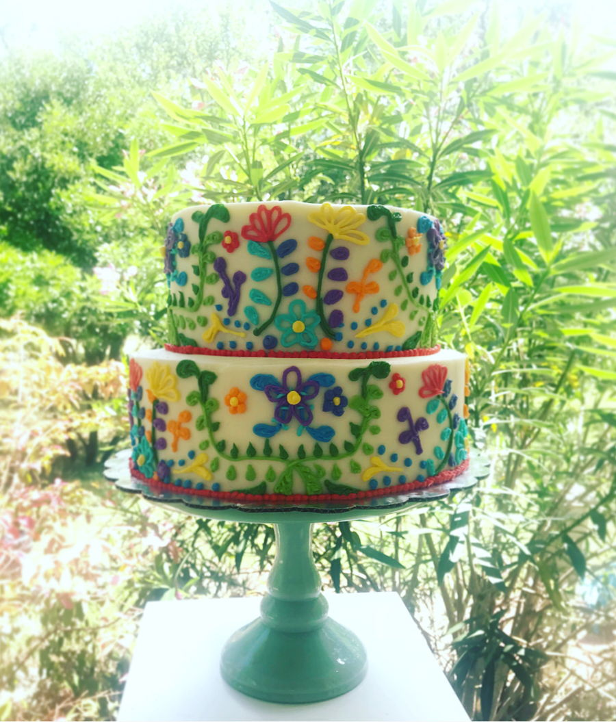 Fiesta Floral Cake on Cake Central