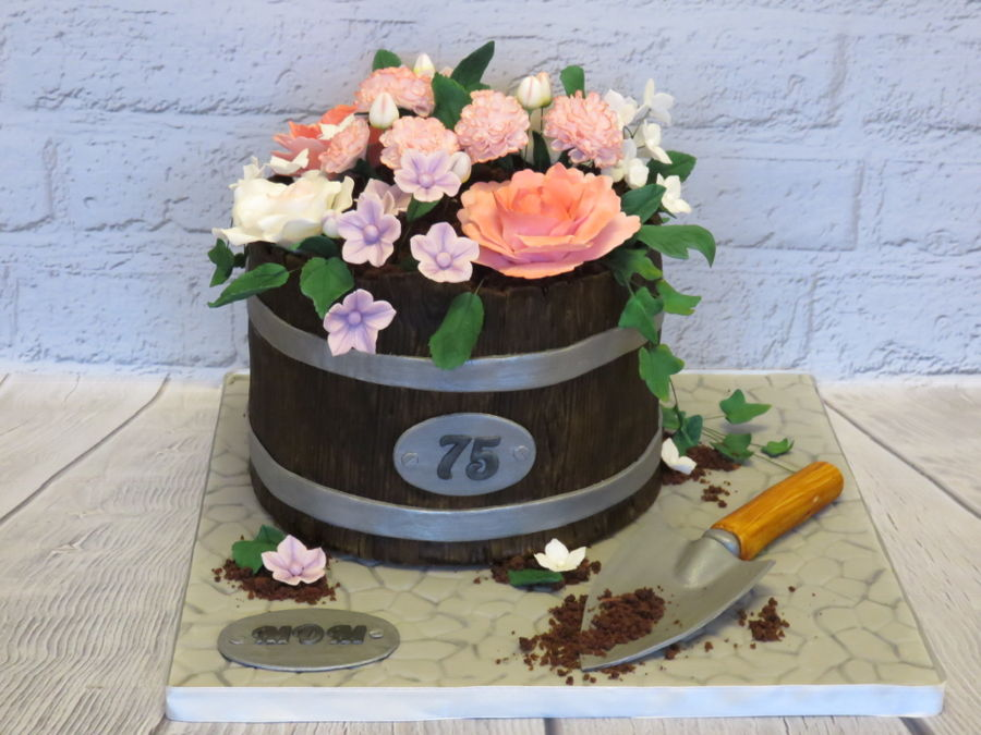 Garden Planter 75Th Cake on Cake Central