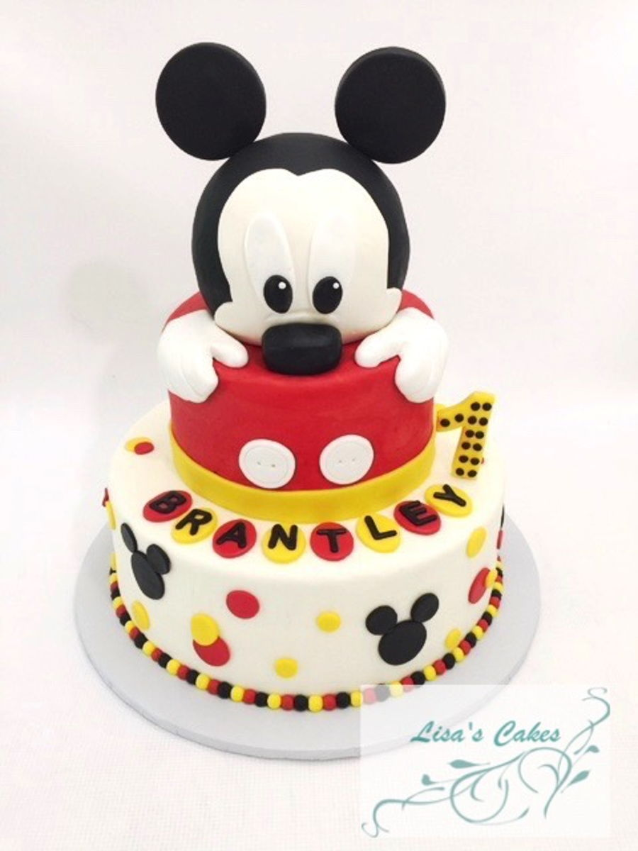 Pleasing Mickey Mouse First Birthday Cake Cakecentral Com Personalised Birthday Cards Bromeletsinfo