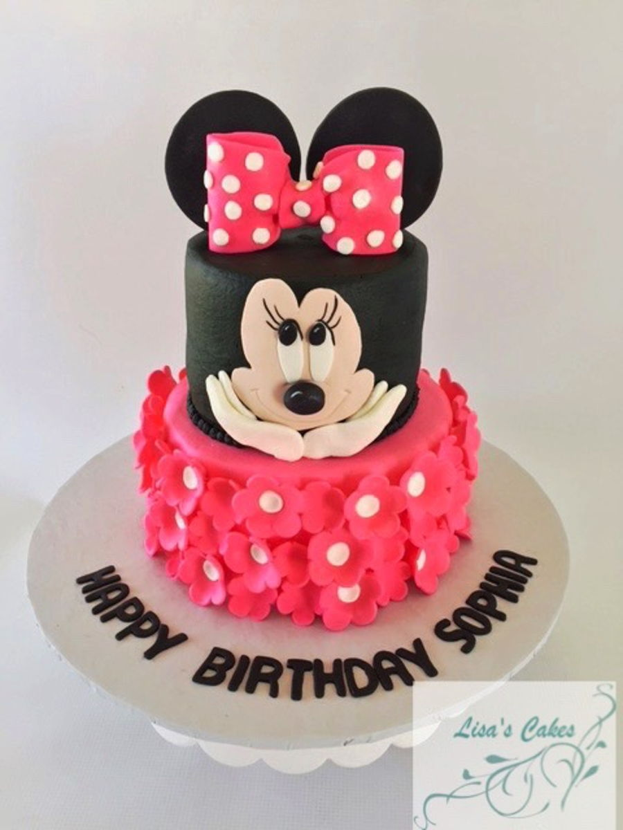 Groovy Minnie Mouse Birthday Cake Cakecentral Com Personalised Birthday Cards Veneteletsinfo